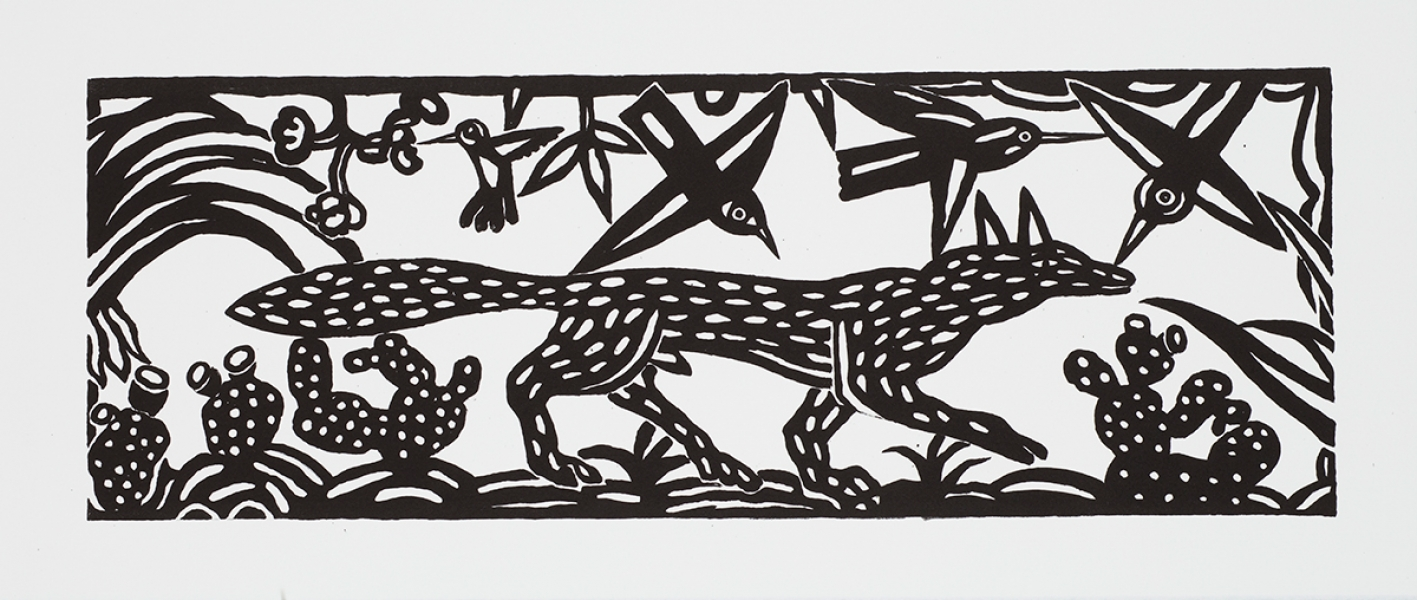 "<h5>Coyote</h5><p>8.5 x 24 ""   Lithograph</p>"