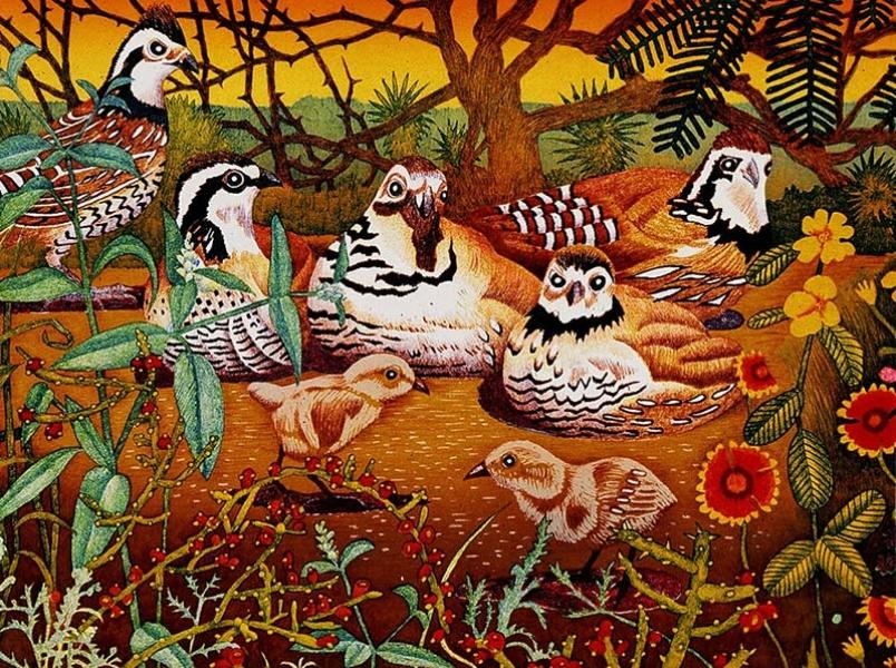 """<h5>Bobwhite Quail</h5><p>Audubon Avian Art Series<br> 18 x 24 """"  Lithograph</p>"""
