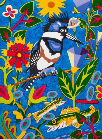 "<h5>Kingfisher - Into Blue</h5><p>30 x 22 ""Lithograph</p>"